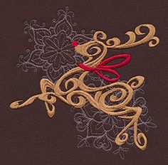 Baroque Noel - Reindeer   Urban Threads: Unique and Awesome Embroidery Designs