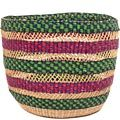 African Basket - Ghana Bolga - Storage Basket - 12 Inches Across - #49254
