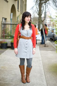 Urban Weeds: Street Style from Portland Oregon: Lauren on SE 9th Portland Street Style, Street Style Blog, Legging Outfits, Winter Teacher Outfits, Plus Size Winter, Capsule Outfits, Work Outfits, School Fashion, Dress To Impress
