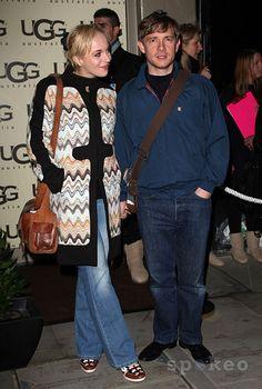 Martin Freeman and Amanda Abbington UGG Australia: London Store Launch in Covent Garden - LOVE that coat!