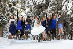 New Hampshire Wedding . . . . . . Snow JUMPERS!