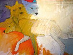 "The Crossing, Rebecca Haines, 30x40"" oil, $3800. #contemporaryart #santafeart"
