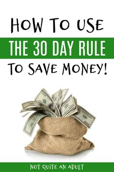 How to Use the 30 Day Rule to Save Money! We've got the best tip to help you save money and cut down on your impulse spending! Save Money On Groceries, Ways To Save Money, Money Tips, Money Saving Tips, Earn Money, Dave Ramsey, Budgeting Finances, Budgeting Tips, Making A Budget