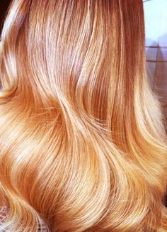 Beautiful Apricot to Golden Blonde Ombre #Hair #Haircolor #blonde #Beauty