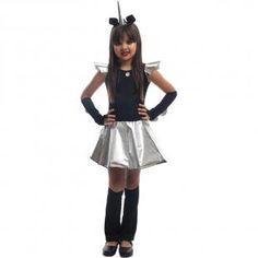 4c3493ce67 Fantasia de Halloween Infantil Feminina Unicórnio Negro Com Chifre - Fantasias  carol fsp
