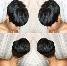 Short Sassy Hair, Short Hair Cuts, Short Weave Hairstyles, Hairstyles 2018, Ladies Hairstyles, Curly Hair Styles, Natural Hair Styles, Chin Length Hair, Short Wigs