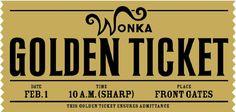 Willy Wonka golden ticket