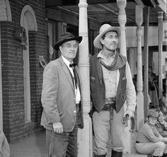 Gunsmoke photo 123 Milburn Stone and Ken Curtis Milburn Stone, Ken Curtis, Gary Clark, Matt Dillon, Miss Kitty, Tv Westerns, Western Movies, Vintage Tv, Old Tv