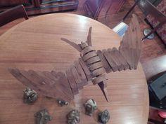 Wood bird sculpture - July 27, 2014