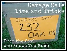 Garage Sale Advice. Even though I've decluttered and donated and flat-out-trashed huge amounts of stuff in the past three years, I still managed to scrape together enough clutter to justify spending ten dollars for a newspaper ad.