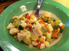 healthy Russian salad Olivier