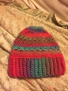 Crocheted Ponytail/Messy Bun Hat     eBay