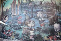 """Mural: Joe Sorren – """"The Veridic Gardens of Effie Leroux"""" in Flagstaff, Arizona"""