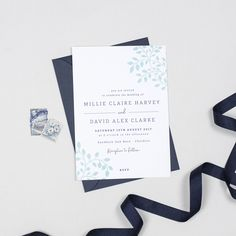 Alice Botanical Wedding Invitation by Project Pretty, the perfect gift for Explore more unique gifts in our curated marketplace. Floral Wedding Stationery, Botanical Wedding Invitations, Personalized Invitations, Belly Bands, Card Envelopes, You Are Invited, Envelope Liners, All The Colors, Initials