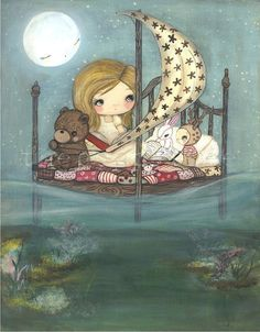 My Bed is a Boat Print by thepoppytree on Etsy, $18.00