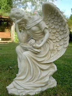 Captivating Concrete Angel Statues For Garden Resin Angel Statues For Garden Sitting  Angel Garden Statue Looking Upwards A Beautiful Statue Of An Angel Sitting  Down ...