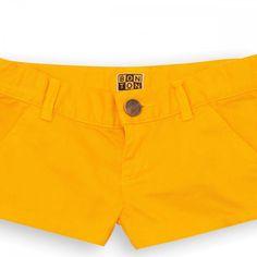 Short Dahlia orange flamme - short Garçons Filles - BONTON