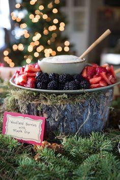 Berries + Dip from a Woodland Baby Shower via Kara's Party Ideas | KarasPartyIdeas.com (31)