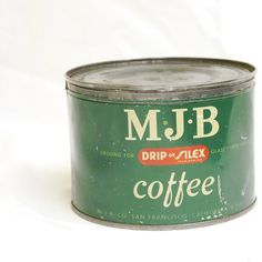 Coffee Tin  MJB  Vintage  Collectible by 7WhiteLions on Etsy, $20.00
