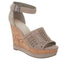 04cc20424ff Marc Fisher Suede Ankle Strap Wedges - Hillana - A303048 Marc Fisher Boots