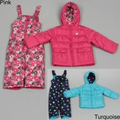 @Overstock - Send your little one out in the snow knowing that they will be warm in this adorable Osh Kosh snowsuit. A hooded coat with heart printed snow pants make this the perfect snowsuit.http://www.overstock.com/Clothing-Shoes/Osh-Kosh-Toddler-Girls-Snowsuit/5793782/product.html?CID=214117 $21.49