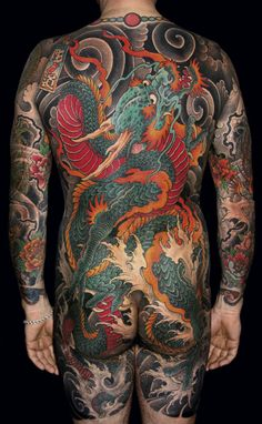 Japanese Full Back Tattoo