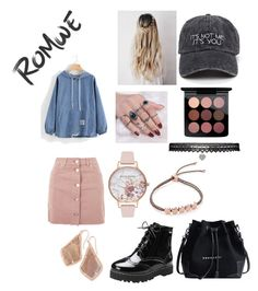 """""""🦄🙃😝"""" by jessica-jude17 ❤ liked on Polyvore featuring Topshop, Olivia Burton, Kendra Scott, Monica Vinader, Betsey Johnson and MAC Cosmetics"""