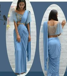 Fancy Saree With Designer Net Blouse Design Saree blouse Blouse Lehenga, Sari Bluse, Saree Blouse Patterns, Saree Blouse Designs, Lengha Saree, New Saree Designs, Dhoti Saree, Net Saree, Lehenga Designs