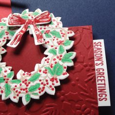 #Peaceful Wreath #Christmas #Tent Card made by Helga Brown from Cardblanche, Stampin'Up only.