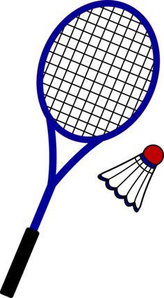Badminton Racquet and Birdie - Free Clip Art