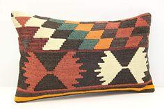 Chair Pillow, Lumbar Throw Pillow, Throw Pillow Covers, Throw Pillows, Kilim Cushions, Boho Pillows, Kilim Rugs, Geometric Pillow, Pillow Inserts