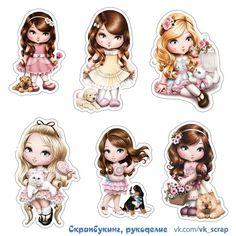 Фотография Printable Stickers, Planner Stickers, Kikki K, Flower Images, Digi Stamps, Diy Scrapbook, Cute Dolls, Print And Cut, Paper Dolls