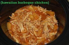 Hawaiian Barbeque Chicken -- crock pot recipe  {jonandsuze.com}