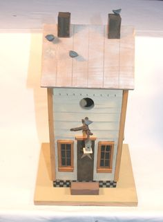 Williraye Studio Folk Art Decorative Wooden Birdhouse 3 Pc. Set Retired