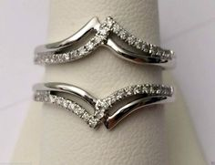 White Gold Solitaire Enhancer Ring Guard Wrap (0.25ct. tw)- RG221501398259