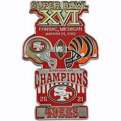 45dd7702719 Super Bowl XVI (16) Oversized Commemorative Pin