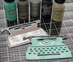 Journal Cards, Junk Journal, Vintage Cigar Box, Retro Typewriter, Crayon Set, Distress Markers, Simon Says Stamp Blog, Distress Oxides, 3d Cards