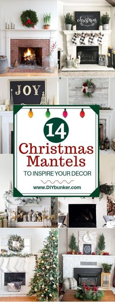 Mantel Decorations for Christmas That'll Bring Your Fireplace to Life These mantel decorations for Christmas are absolutely STUNNING! I love the modern decor and farmhouse mantels especially. Diy Christmas Fireplace, Diy Christmas Lights, Farmhouse Christmas Decor, Christmas Mantels, Christmas Door, Modern Christmas, Rustic Christmas, Christmas Holidays, Christmas Crafts