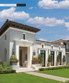 The Luxury of Home 2015 Spanish Home Decor, Spanish Style Homes, Spanish House, Mediterranean Architecture, Mediterranean Homes, Facade Design, Exterior Design, House Outside Design, Classic House Design