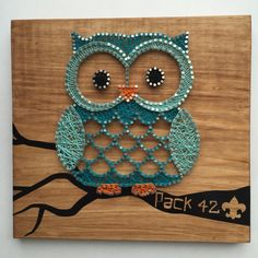 Owl String Art Custom Made to Order by StudioKR on Etsy