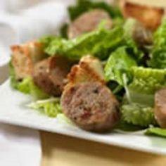 Roasted Garlic Chicken Sausage Caesar Salad