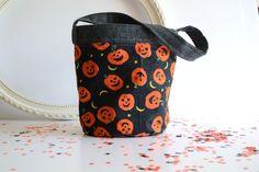 Halloween Bucket - Toddler Treat Bag - Fabric Bucket - Candy Bucket - Golden…
