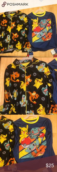 236228e180 New 2 sets of Pokémon Pajamas size 8 2 pairs of Pokémon pajamas sets size 8