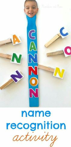 Clothespin Name Recognition Activity- a great craft to make with preschool students the first week of school!: Clothespin Name Recognition Activity- a great craft to make with preschool students the first week of school! by nettie Preschool Names, Preschool Classroom, Preschool Learning, Classroom Activities, Preschool Activities, Kids Learning, Preschool Name Recognition, Preschool First Week, Letter Recognition