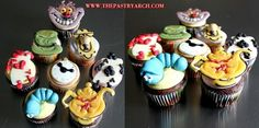 """Just in time for tomorrow's """"Cupcake Wars"""" episode, here are """"Alice in Wonderland"""" themed cupcakes!"""