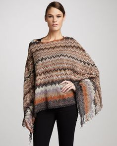 Lightweight Zigzag Poncho by Missoni at Neiman Marcus.