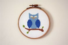 Owl cross-stitch: Homely One blog