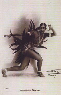 Josephine Baker in Folies Bergere revue 'Un Vent de Folie' c1927 by Walery