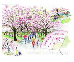 "The Brooklyn Botanic Garden's annual Sakura Matsuri, (Japanese for ""Cherry Blossom Festival"") starts this weekend. As seen in New York in Four Seasons."