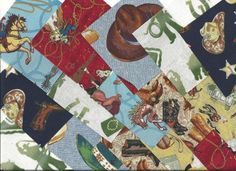 "Western Cowboy/Cowgirl Quilt Charm Pack-Brown-40-Piece 4""x 4"" pre-cut quilt fabric squares-free ship"